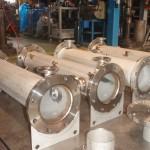裏波溶接で作られたステンレス配管部材