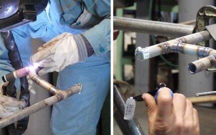 配管(パイプ)の裏波溶接